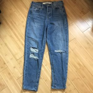 Brandy Melville High Rise Distressed Jeans 24W